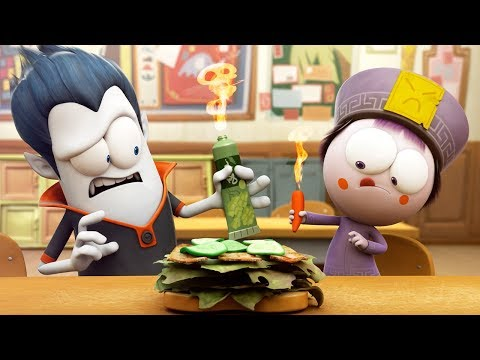Funny Animated Cartoon   Spookiz World Record Hottest Sandwich Ever 스푸키즈   Cartoon for Children