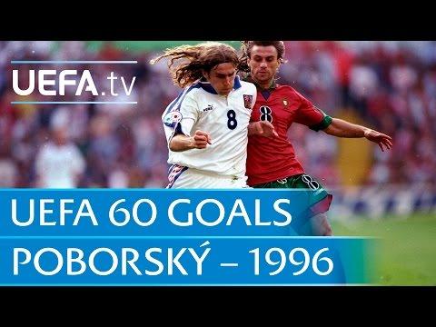 karel poborský goal a euro 1996 repubblica ceca vs portogallo