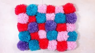 How to Make a Pompom Rug (DIY Tutorial) - YouTube