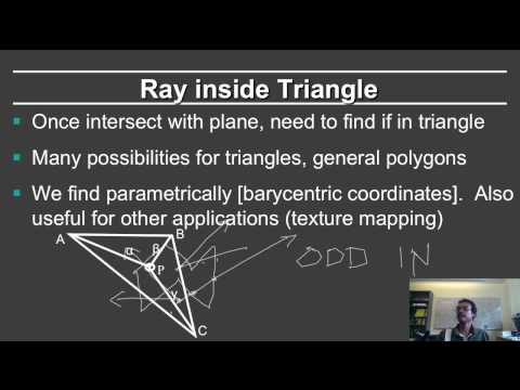 Online Graphics Course Raytracing 1: Intersections