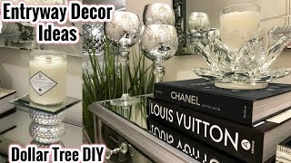 Glam Mirror Entryway Decor Ideas | Dollar Tree DIY Home Decor