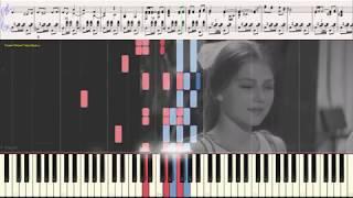 Little man - Sonny Bono (Ноты и Видеоурок для фортепиано, баяна) (piano cover)