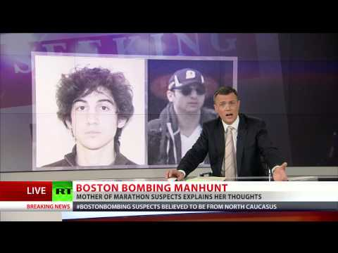 RussiaToday - Boston bombings suspects are 19-year-old Dzhokhar Tsarnaev, who remains at large. His brother, 26-year-old Tamerlan Tsarnayev, was killed after a police car ...