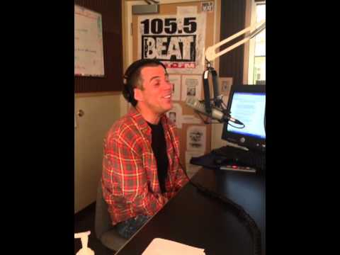 Steve-O with 105.5 the Beat before Off The Hook Comedy Club in Marco Island