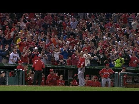 Shot - 4/22/14: Albert Pujols becomes the 26th player to hit 500 career home runs with a two-run blast to left-center field Check out http://m.mlb.com/video for our...