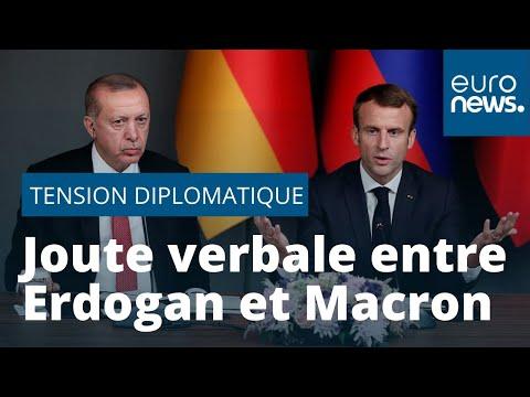 """Erdogan accuse """"son ami Emmanuel Macron"""" d'être """"en état de mort cérébrale"""