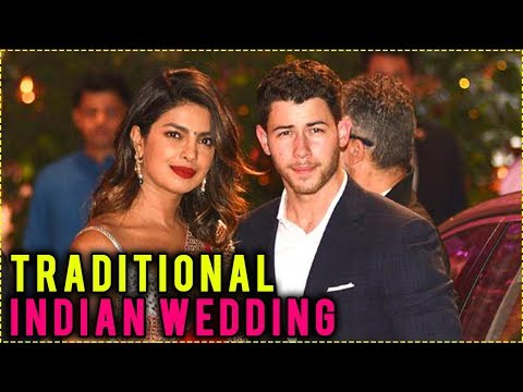 Priyanka Chopra And Nick Jonas Traditional Indian