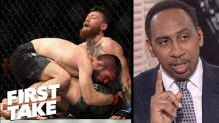 Video Stephen A.: Conor McGregor deserves rematch vs. Khabib Nurmagomedov | First Take MP3, 3GP, MP4, WEBM, AVI, FLV Desember 2018