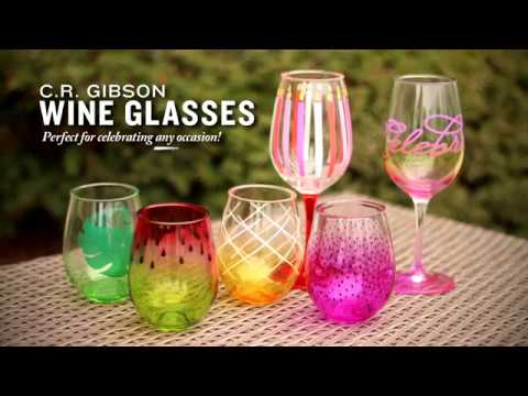 C.R. Gibson Wine Glasses ~ Available at Cooper's Hawk Winery & Restaurants