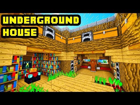 Minecraft Big Underground House Tutorial (How To Build Ideas)