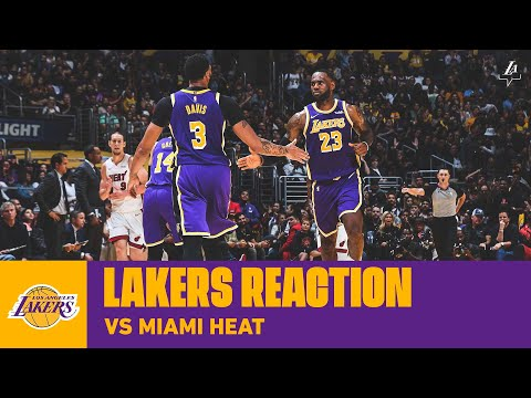 Lakers Reaction: AD breaks Miami's zone in 7th straight win.