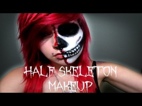 Half Skeleton/Half Human | Halloween Tutorial