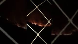 Um incêndio de grandes proporções atinge a Serra do Curral na noite deste domingo. As chamas começaram próximo ao Bairro...