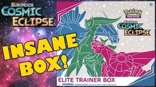 INSANE POKEMON COSMIC ECLIPSE ELITE TRAINER BOX OPENING! by The Pokémon Evolutionaries