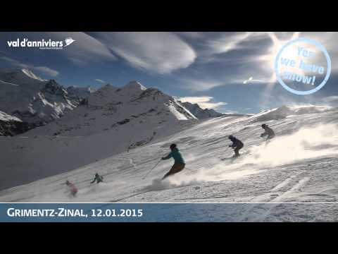 Très bonnes conditions de ski à Grimentz-Zinal