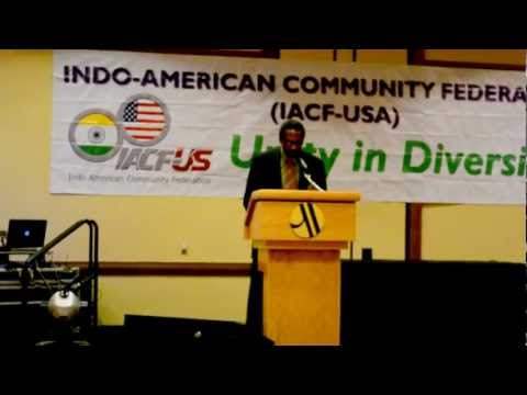 Nate Miley addresses the Indo-American Community Federation Unity Dinner 2012