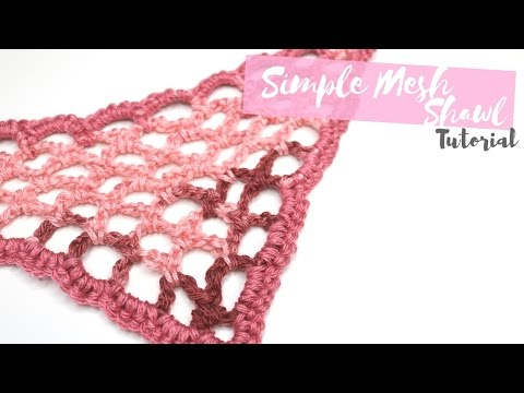 crochet - simple mesh shawl