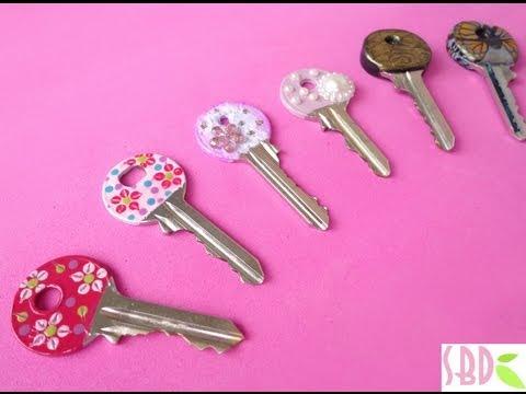fai da te - tre modi per decorare le chiavi