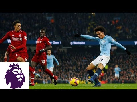 Leroy Sane Strikes Shot Off Post And In For Man City V. Liverpool | Premier League | NBC Sports