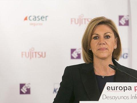 """Cospedal: """"Albiol es el mejor candidato porque encarna lo mejor de Cataluña"""""""