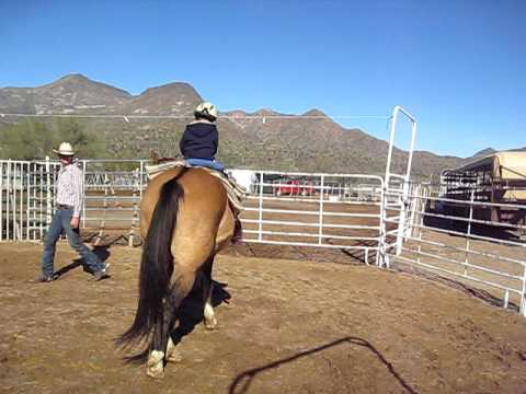 Christopher riding a horse in Arizona