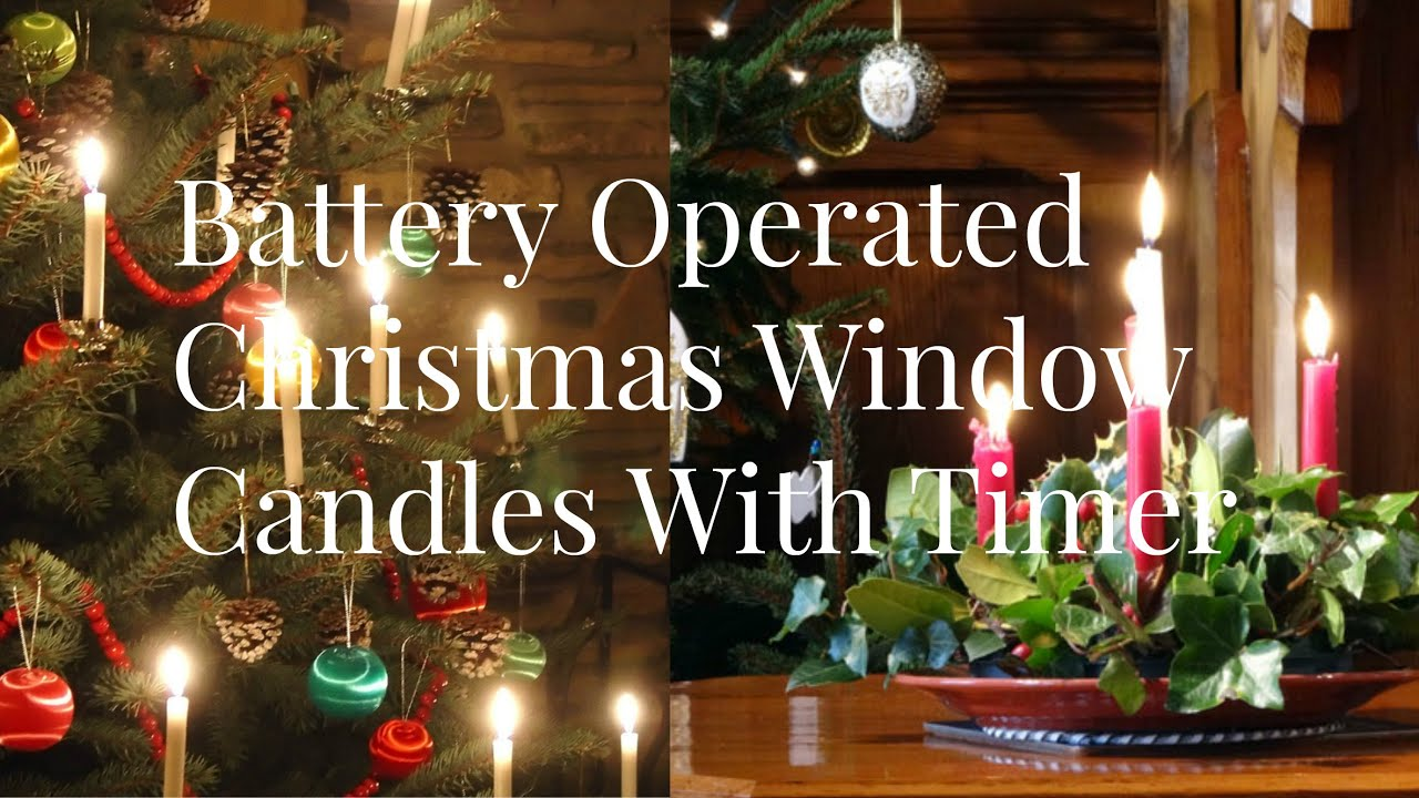 Battery Operated Christmas Window Candles With Timer Decorations Lights