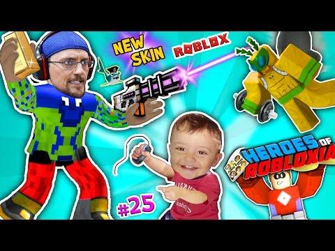 ROBLOX vs. BAD BABY SHAWN! FGTEEV SUPER HEROES of ROBLOXIA + GYM TYCOON + New Skin Pixel Gun Pt 25 (видео)