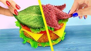 Video 10 DIY Amazing Mermaid Fast Food vs Fairy Fast Food Challenge! MP3, 3GP, MP4, WEBM, AVI, FLV Juni 2019