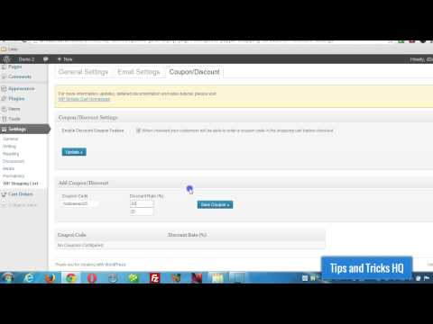 How to use discount coupon in the WordPress shopping cart plugin