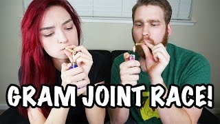 WHO CAN SMOKE A GRAM JOINT FASTER? by HaleyIsSoarx