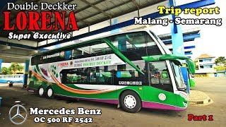 Video Naik Bus Tingkat  LORENA SUPER DOUBLE DECKKER | Malang - Semarang Part 1 MP3, 3GP, MP4, WEBM, AVI, FLV Juni 2018