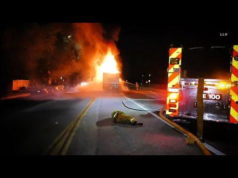 Firefighter Down After Car Running Over Fire Hose Trips Fireman / Lake Balboa   8.11.20