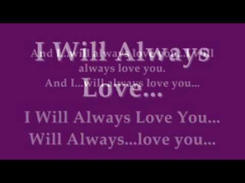 Whitney Houston – I Will Always Love You Instrumental with Lyrics