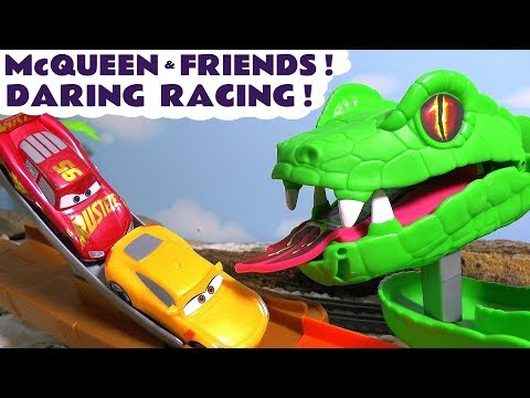 Disney Cars Toys McQueen Cars 3 daring racing with Hot Wheels Avengers Car and funny Funlings TT4U