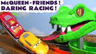 Video Disney Cars Toys McQueen Cars 3 daring racing with Hot Wheels Avengers Car and funny Funlings TT4U MP3, 3GP, MP4, WEBM, AVI, FLV November 2018