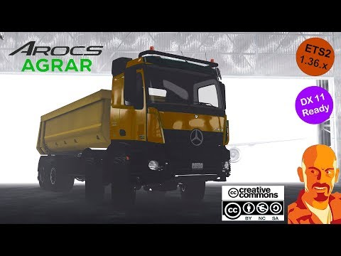 KIPPER AGRAR TRAILER FOR REAR HOOK TRUCKS ATS 1.36.x