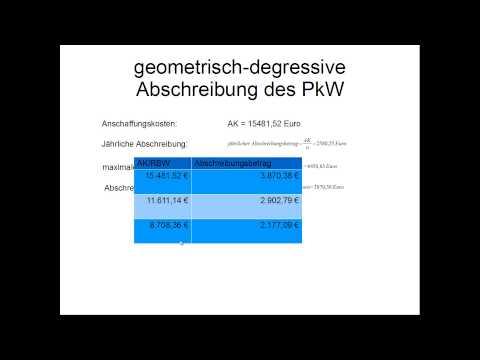 geometrisch degressive abschreibung}