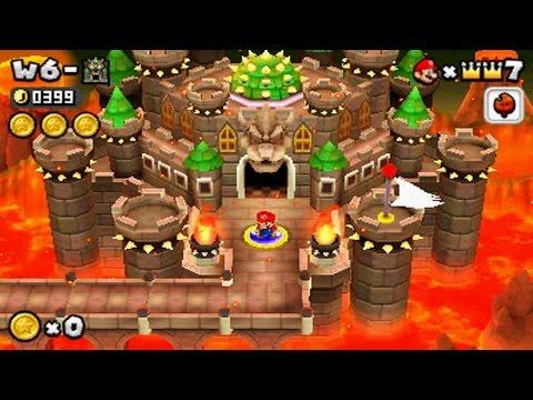 New Super Mario Bros 2 - World 6 Final Castle (видео)