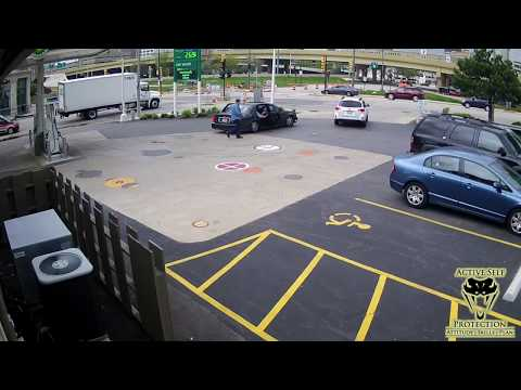 Woman Jumps on Car Hood to Stop Car Thief   Active Self Protection