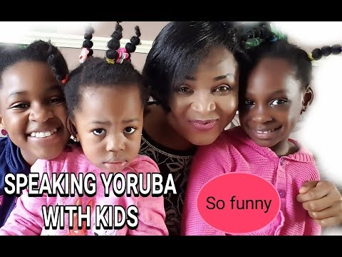 YORUBA LESSON WITH MY KIDS |LETS LEARN YORUBA|NIGERIA LANG|FUNNY|COLAB
