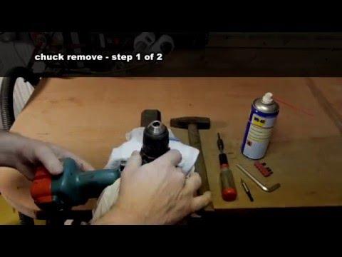 Bohrfutter/ Spannfutter entfernen | remove drill chuck| Makita Akku- Bohrschrauber Howto…