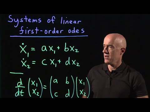 Systems of linear first-order odes | Lecture 39 | Differential Equations for Engineers