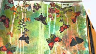 Mixed Media Friday Tutorial -Art Journal Page - YouTube