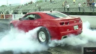 Supercharged Camaro SS Vs Tuned GTR - Drag Race Video - Road Test TV