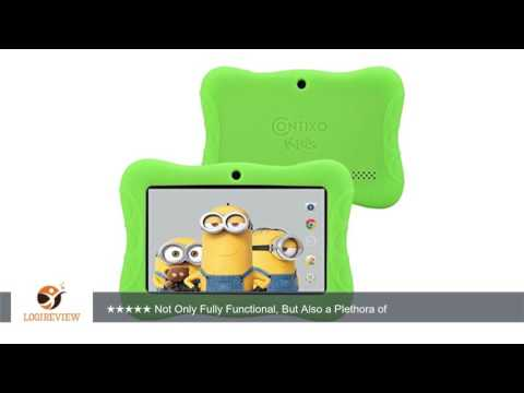 Contixo 7-Inch HD Display 8GB Kids Tablet Bundle with Kid-Proof Case (Green) | Review/Test