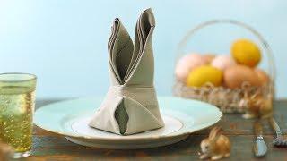 Napkin Bunny Fold by Everyday Food
