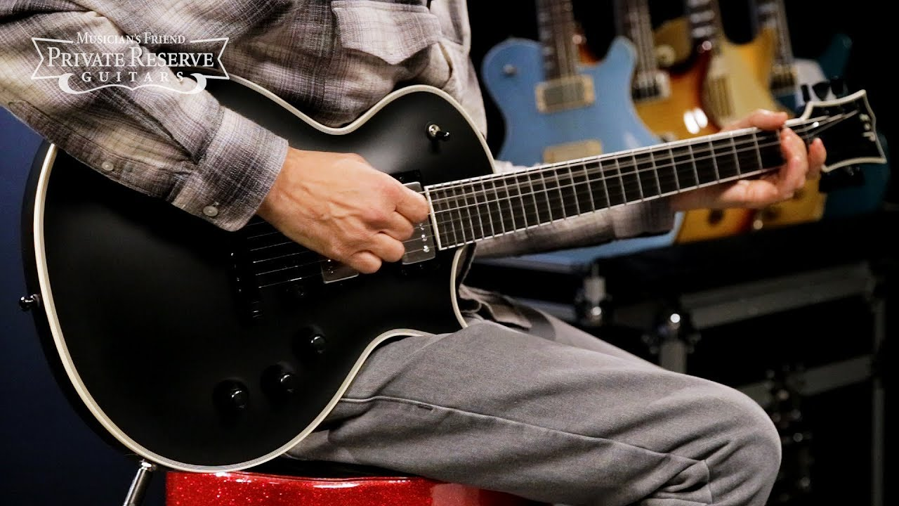 ESP Black Satin Eclipse CTM Electric Guitar