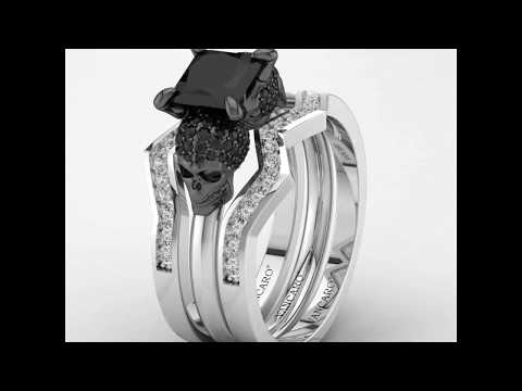 Black Skull Trio-ring sets
