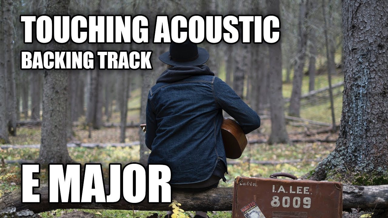 Touching Acoustic Guitar Backing Track In E Major
