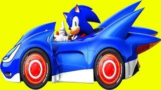 Süper Kahraman Sonic Boom Uçan Arabalar Rallisinde 1. Bölüm